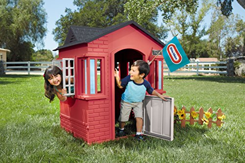 This one is a toddlers choice. They will find it enjoyable opening and closing the windows whilst role playing and running in and out of the house. The mail box is a major highlight of this playhouse, allowing kids to exchange notes or artwork. Accent stickers including the mail box sign and house number will also appeal greatly to young children. They will also love the 'real house' look of this playhouse due to closed-off walls.