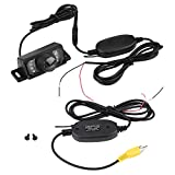 Keenso Rückfahrkamera Wireless Sender 7 stücke LED Wireless Auto Rückfahrkamera Nachtsicht IR Wireless RCA Video Sender & Empfänger