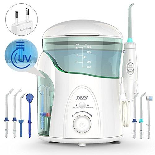 Hydropulseur Jet dentaire avec UV stérilisateur, THZY Professionnel Irrigateur Oral avec 7 Buses de Rechange Rotation 360°, Pression Réglabl... 21