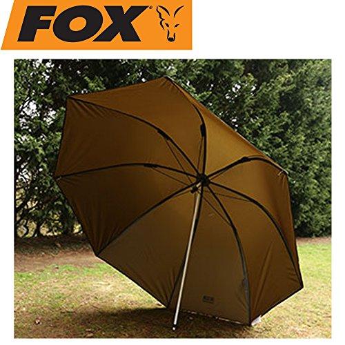 Fox 60\' Brolly - Angelschirm zum Ansitzangeln auf Raubfische & Karpfen, Schirm zum Angeln, Sonnenschirm zum Karpfenangeln