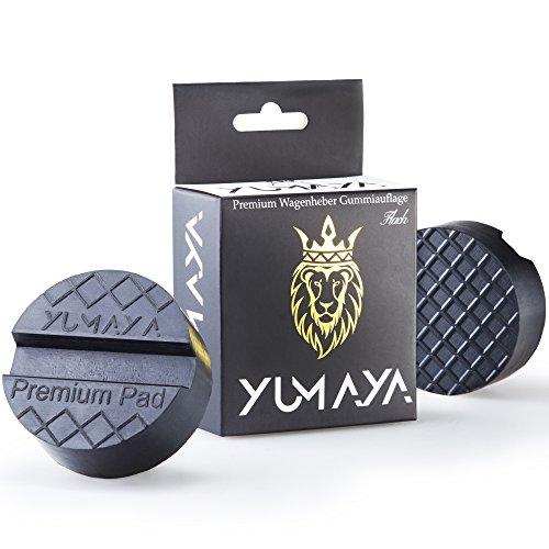 YUMAYA Profi Wagenheber Gummiauflage für Rangierwagenheber - Bruchsicher - Universal Gummipuffer für Hebebühnen - Perfekter Schutz beim Reifenwechsel PKW und SUV - Auflage-Wagenheber (Flach)