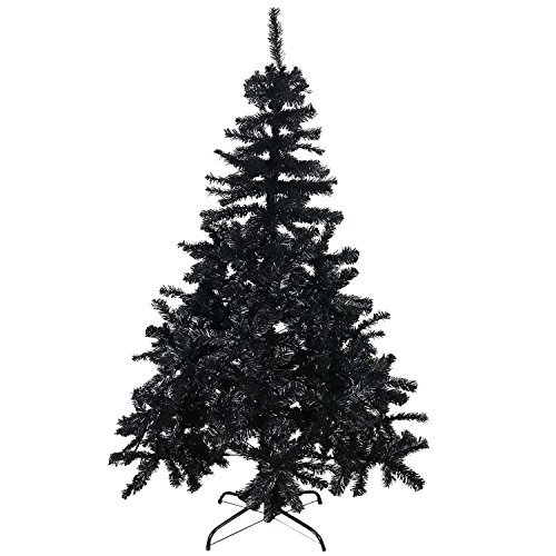 Mojawo Albero di Natale Artificiale 180 cm con Supporto Albero di Natale Nero