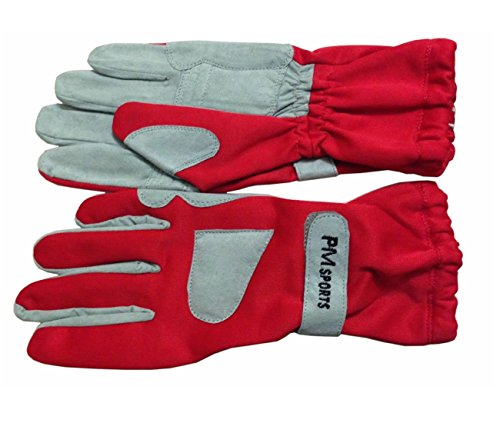 New Kart, guanti da gara realizzati in omara e poliestere per una migliore presa, di colore rosso