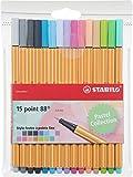 STABILO punto 88-Confezione di pennarelli punta fine -Fluorescenti Coloris pastel