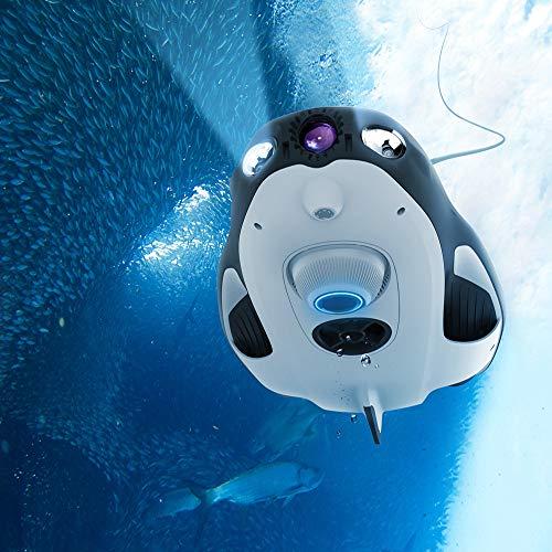 1080P Guidata Power Vision Powerray Subacquea Drone Marine Pesca Fotocamera con 4K UHD Nautica RC Submarine Pronto Vision FPV Modello