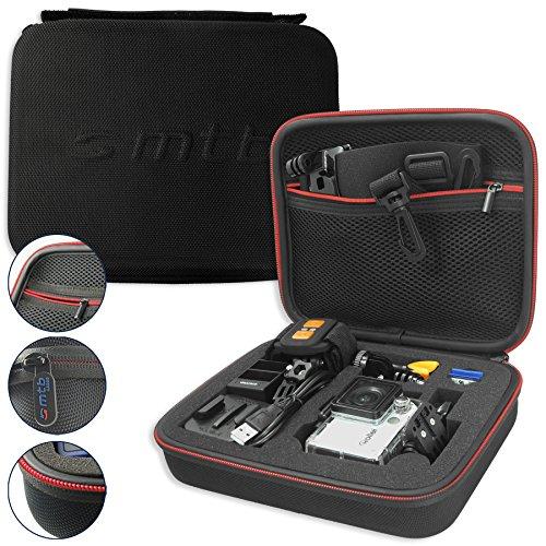 mtb more energy® Schutztasche XL für Rollei Action Cam 430, 425, 420, 415, 410, 400, 350, 333, 300(+), 240, 230, 220 / 7S Wifi, 6S, 5S - Schwarz - Koffer Case Stecksystem Modular