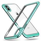 """ESR Funda para iPhone XS/X, Marco Resistente con Almohadillado Interno Flexible [Protección Reforzada de la Cámara] [Caja Trasera con Protección de Vidrio] para iPhone XS/X de 5.8""""-Menta"""