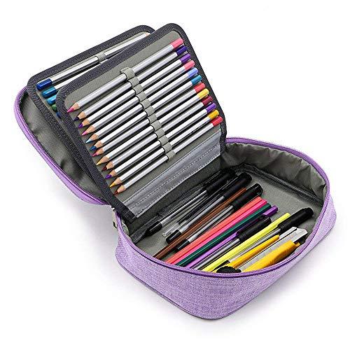 Yunhigh Valigetta Colorata da 72 Scomparti Astuccio Grande con Cerniera e Manico per matite...
