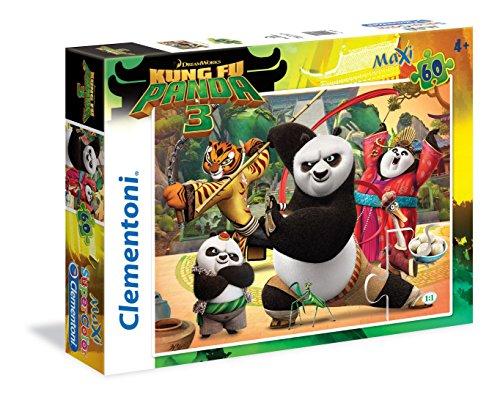 Clementoni 26580 - Puzzle Kung Fu Panda 3, 60 Maxi Pezzi, Multicolore