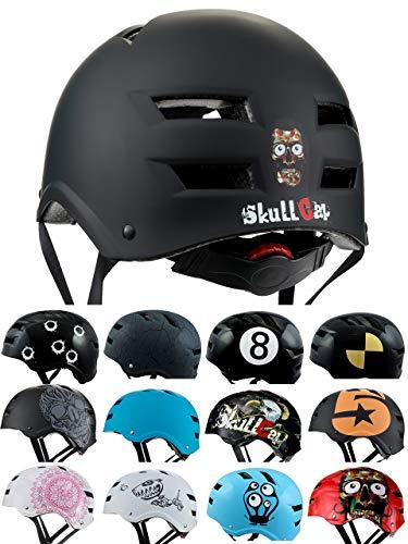 Skullcap® BMX Helm - Skaterhelm - Fahrradhelm - Herren   Damen   Jungs & Kinderhelm Gr.L (58 - 61 cm), Dark World