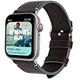 Fullmosa 8 colori cinturino compatibile con apple watch 40mm/44mm, cinturino vintage in Pelle compatibile con Apple Watch Series 4, per Apple Watch/iWatch Nike + Series 4 ,uomo e donna,44mm Caffè + fibbia argento