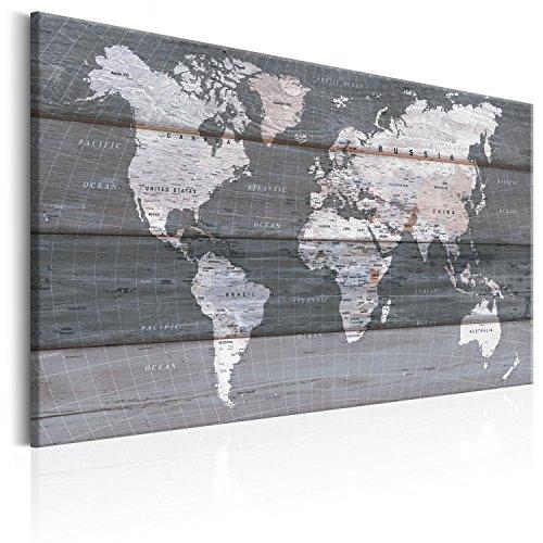 murando - Lavagna di Sughero 120x80 cm -1 Parte - Quadro su Tela - Poster Mappa del Mondo Quadro con...
