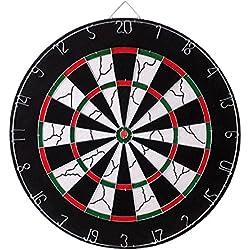 JOYTO Dartboard Dartscheibe Bristle Mit 6 Dartpfeile 45 CM Durchmesser Pfeile Büro Party Café Bar Sport Spiel