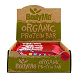 BodyMe Organic Vegan Protein Bar | Raw Beetroot Berry | Box of 12 x 60g (2.12oz) | with 3 Plant Proteins