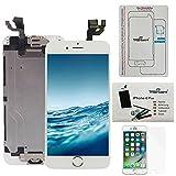 Kit di Riparazione Vetro Schermo Per iPhone 6 Plus (5,5) Bianco Ricambio Completo LCD Display   Trop Saint® con Pellicola Protettiva