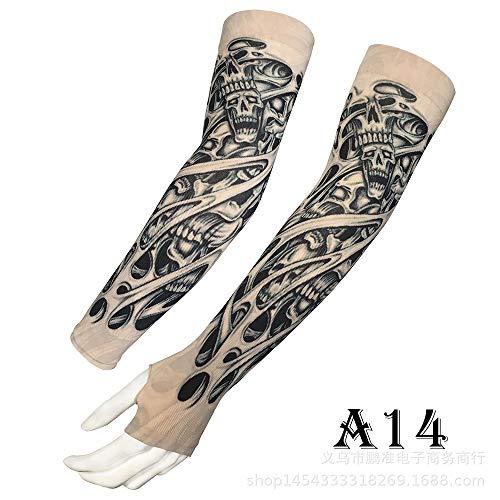 tzxdbh Manica per Tatuaggio Manica per Uomo e Donna Manica per Ghiaccio Estiva Manica per ombrellone Guida Braccio per Braccio Braccio