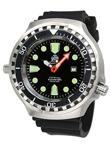 Orologio subacqueodi grandi dimensioni (52 mm) con movimentoautomatico, vetro zaffiro T0285