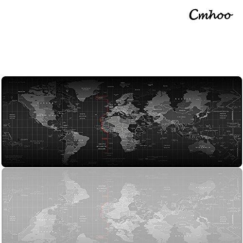 Cmhoo - Tappetino XL per mouse e PC, di grandi dimensioni, adatto per il gaming 80x30 Map