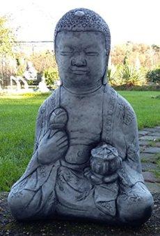 Buda Oferta Especial 21kg pesado de piedra Figura Buda muy bien ausgearbeitet, resistente a heladas hasta -30°C, piedra fundido macizo pensar en Navidad.