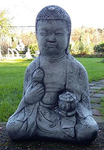 Buda Oferta Especial 21kg pesado de piedra Figura Buda muy bien ausgearbeitet, resistente a heladas hasta -30°C, piedra fundido macizo pensar en Navidad. 3