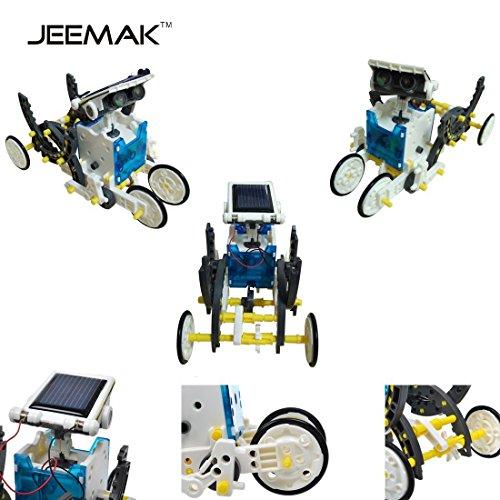 51CAepDdtWL - JEEMAK 14-en-1 para la Educación Solar Robot Kit