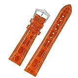 20 millimetri di alta qualità cinturini in pelle di ricambio Classic Orange cinghie per gli uomini genuina pelle di alligatore
