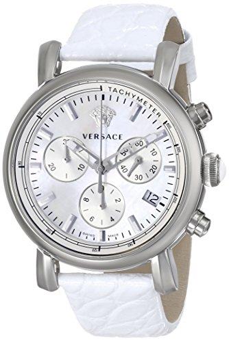 Versace Orologio Cronografo Quarzo Donna con Cinturino in Pelle VLB010014