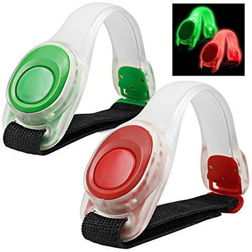 2pcs/pack MAXIN LED bracciale luminosa, riflettente silicone, braccialetto LED Glow in the Dark...