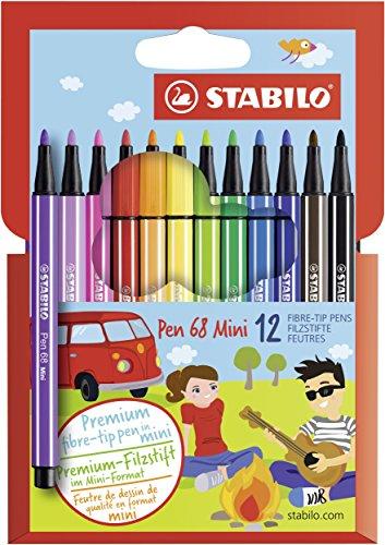 STABILO Pen 68 Mini Pennarelli - Astuccio da 12, 12 Pezzi