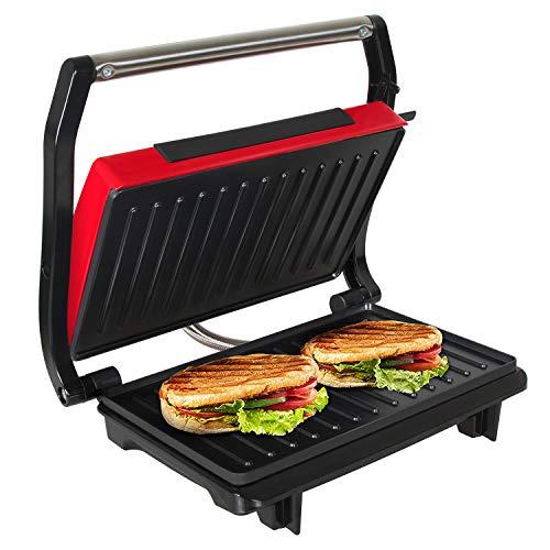 OZAVO Panini Maker/Griglia, Tostiera,Pressa a sandwich, Griglia elettrica, 750 Watt,Grill a Contatto...