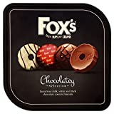 Fox's more yum per crumb Chocolatey Selection, Luxurious milk, white and dark chocolate covered biscuits (2 tins)