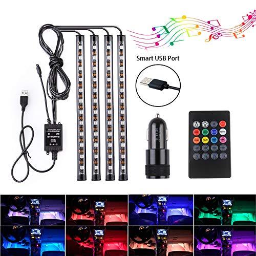 Speclux BS-SLDW07-RGB, Striscia di Luci a LED per l'interno dell'auto, 48 pezzi