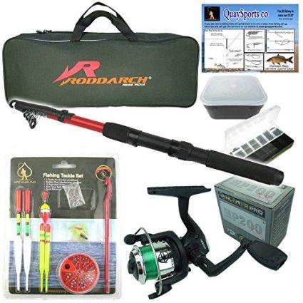 Junior-beginners-Fishing-Kit-Set-Novice-Starter-fishing-set-includes-Rod-Reel-Tackle-Bait-Box-Tackle-Box-Storage-Bag-Roddarch-Quality-Brand