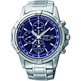 Seiko Men's Chronograph Solar Powered Watch with Stainless Steel Strap SSC141P1