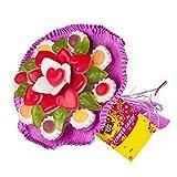 Fruchtgummi Blumenstrauß aus verschiedenen Fruchtgummi-Sorten, Geburtstag, Valentinstag, Muttertag, Geschenk, 140g