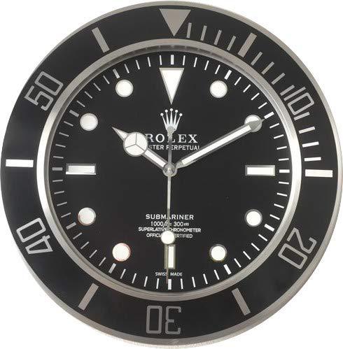 Rolex 35 CM da Muro Submariner Ghiera Nera in Metallo Movimento Silenzioso 2 anni Garanzia e 2 CD In Omaggio