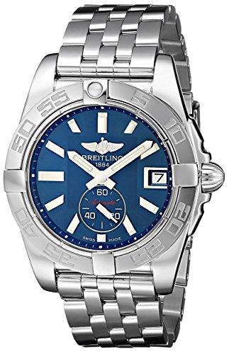 Breitling Galactic 36 Damen-Automatikuhr mit blauem Zifferblatt, Analoganzeige und silberfarbenem Edelstahl-Armband A3733012/C824/376A
