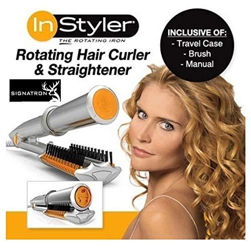 SIGNATRON Instyler Rotating Rollers Hair Styler Kit Curler, Straightener Curling Iron (Multicolour)
