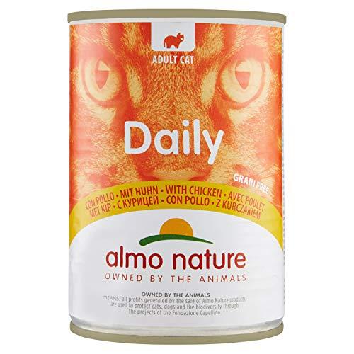Almo Nature Daily Lot de 24 boîtes de 400 g pour Chat sans céréales avec Poulet 7
