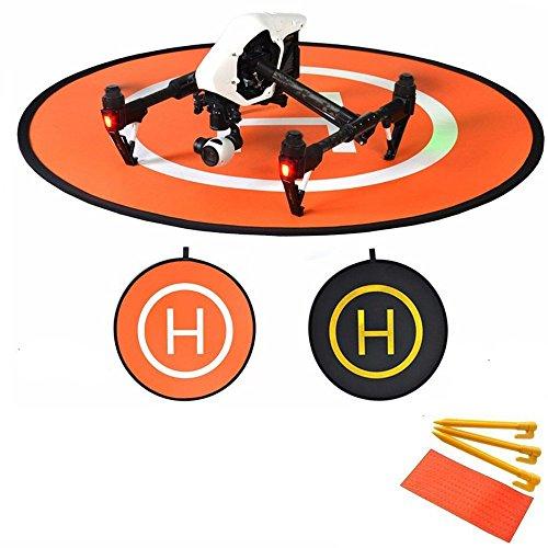 Flycoo 110 centimetri 43 pollici Drone Landing Pad pieghevole elicottero atterraggio parcheggio...