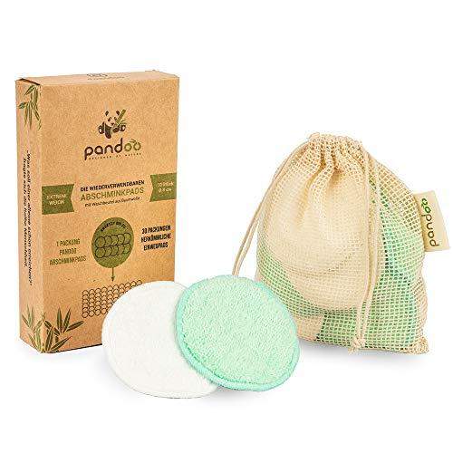 10 wiederverwendbare Abschminkpads aus Bambus und Baumwolle | Waschbar Make-Up Remover, Less Waste | Extrem Weich, perfekt für Gesichtsreinigung und Baby