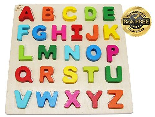 Puzzle di giocattoli in legno per bambini da 2 a 3 anni con grandi numeri di colori luminosi 0-9;...