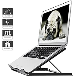 1home Soporte portátil ergónomico Adjustable Curvo para computadora portátil y MacBook