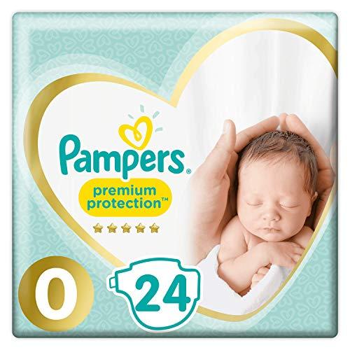 Pampers Premium Protection - Pannolini, misura 0, confezione da 24