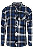 Chemise en flanelle imprimée à carreaux 'Carlsson' par Tokyo Laundry pour homme (Vrai Bleu) XXL