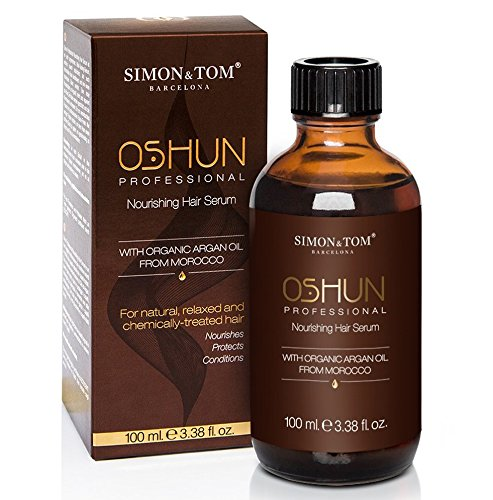 Simon & Tom Oshun professional hair serum. Siero per capelli ad alta concentrazione di olio d'Argan puro, per una maggiore definizione e controllo dei capelli secchi, ricci e crespi. 100 ml