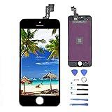 Vivicool Nero Display per iPhone 5S Schermo LCD Touch Screen Digitizer Parti di Ricambio (Con Home Pulsante, Fotocamera, Sensore Flex) Utensili Inclusi