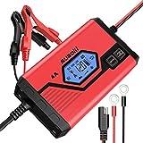 Suaoki - Chargeur de Batterie pour Voiture 4 Ampères 6/12V, Mainteneur...