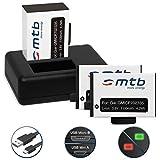 3 Baterías + Cargador Doble (USB) para Garmin Virb 360 Actioncam [1100 mAh / 3.8V / Li-Ion] - Contiene Cable Micro USB