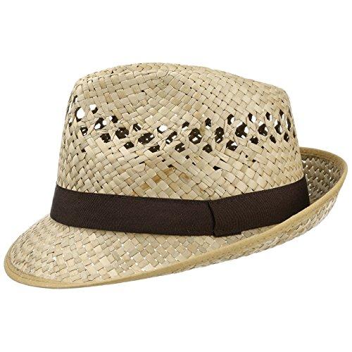 4a1d2f8fe23cf Lipodo Classic Trilby Strohhut Sommerhut Sonnenhut Fedora Hut Strandhut für Damen  Herren Sonnenhut Strohhut mit Ripsband